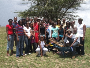 Jabari Kenya members camping - group photo